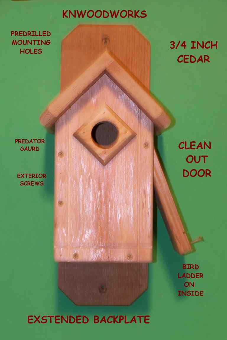 standard bluebird house with v-roof