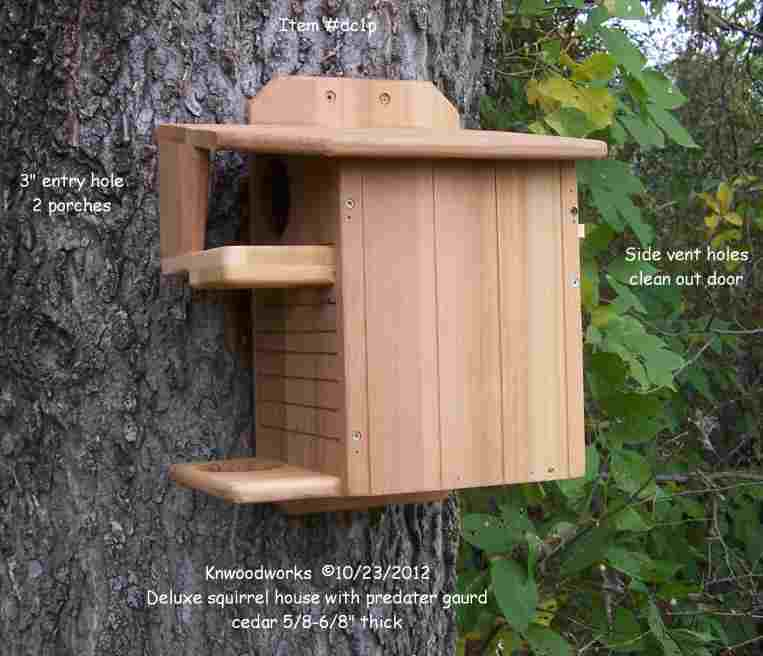 Squirrel nest boxes Houses Feeders and squirrel factsCEDAR squirrel house