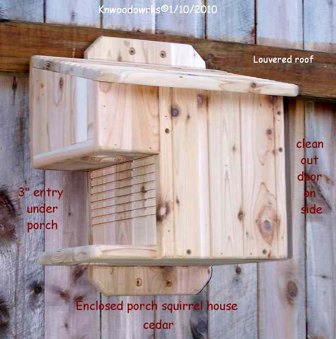 new enclosed porch squirrel house